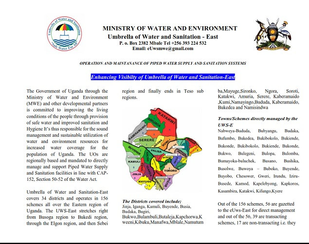 Enhancing Visibilty of Umbrella of Water and Sanitation-East