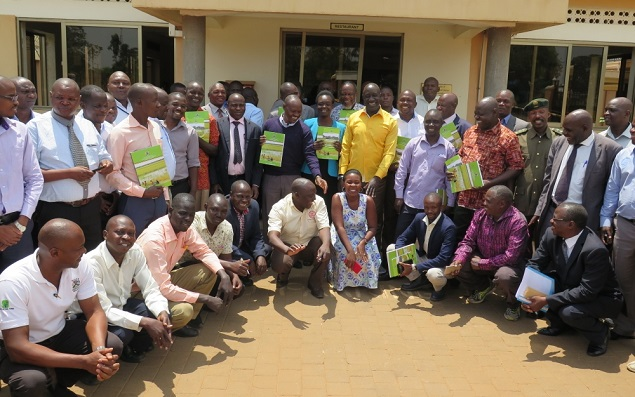 Launch of  the Awoja Catchment Management Plan by the State Minister for Disaster and Preparedness Hon. Musa Ecweru has in Soroti District.