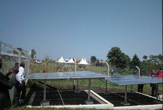 Solar panels that provide power for the System