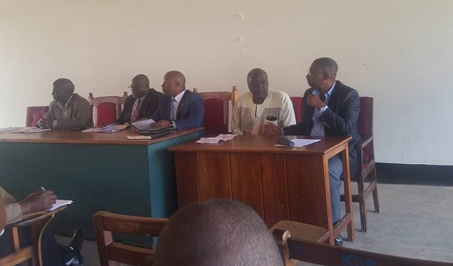 Meeting with stakeholders to solve the water supply challenges in Kisoro district