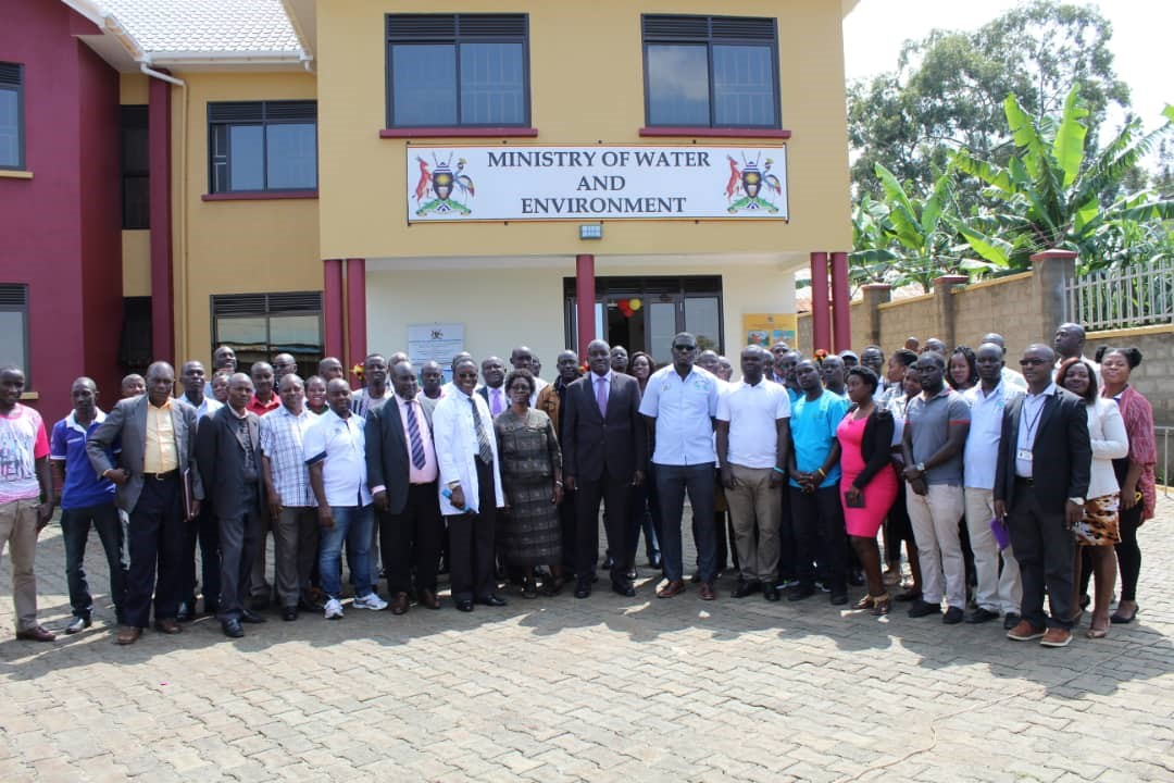 Commissioning the Fort Portal new building offices, construted under the LAEF II Project